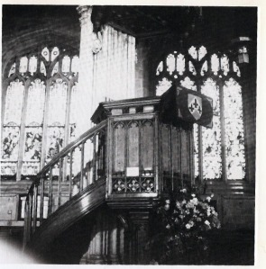 Pulpit at St. Mary's